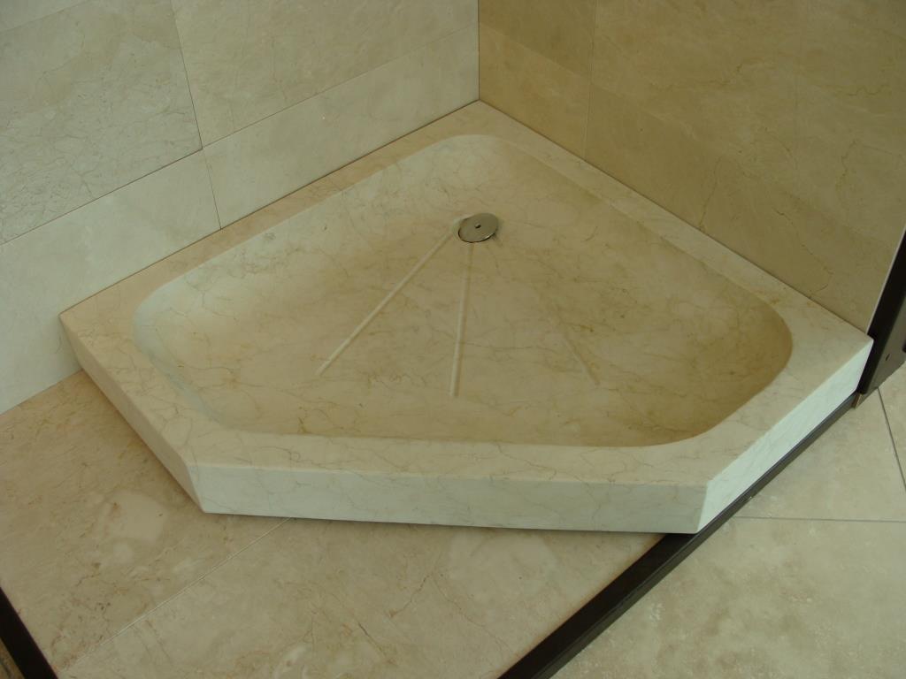 Receveur de douche en pierre, marbre, granit et travertin